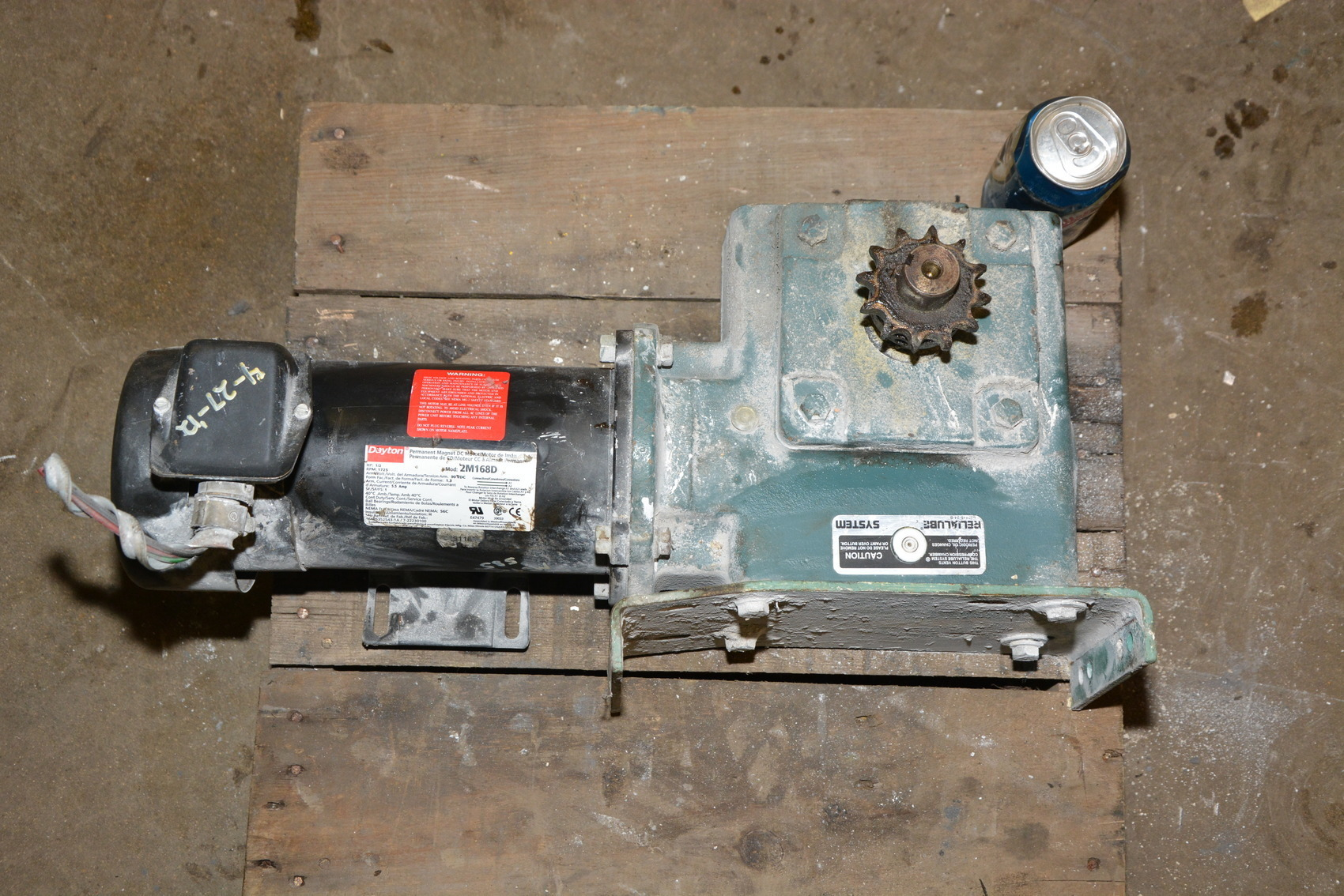 Tigear Mr94651zma 1 40 Gearmotor Dayton 1 2 Hp Electric Dc Gear Motor Inv 18507 Ebay