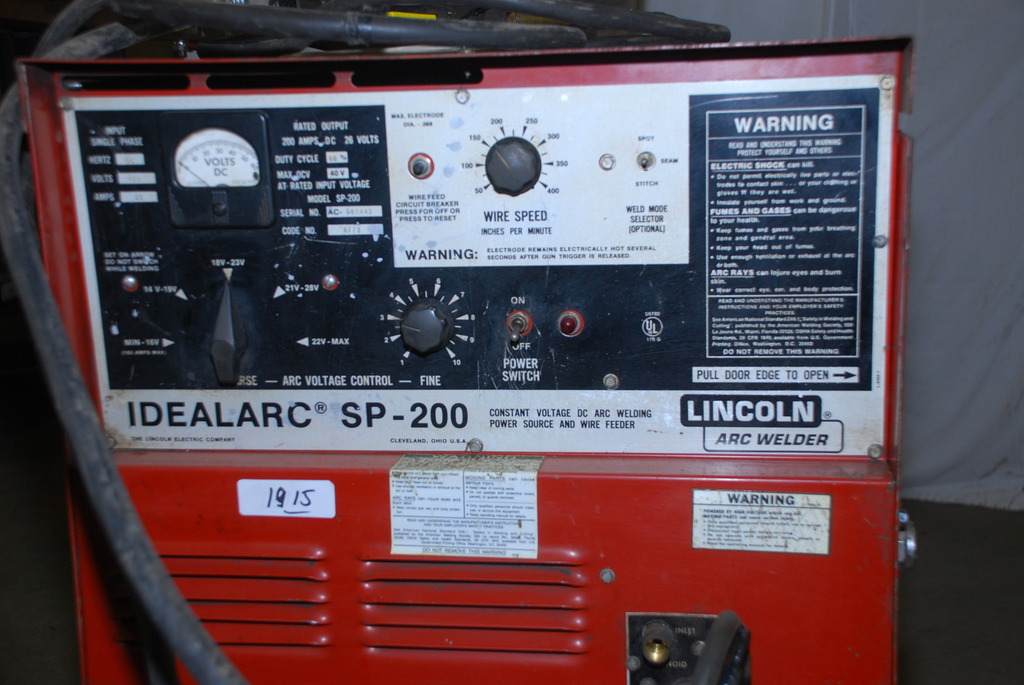 very nice lincoln idealarc sp 200 mig welder single phase. Black Bedroom Furniture Sets. Home Design Ideas