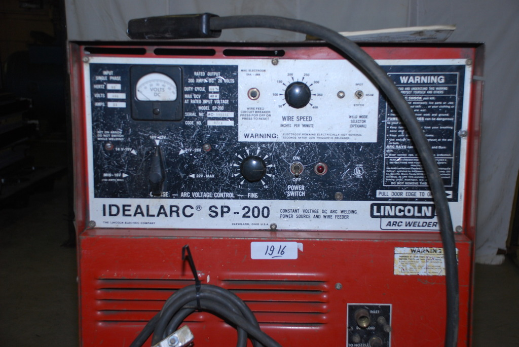 Used Welders For Sale >> VERY NICE LINCOLN IDEALARC SP-200 MIG WELDER, SINGLE PHASE ...