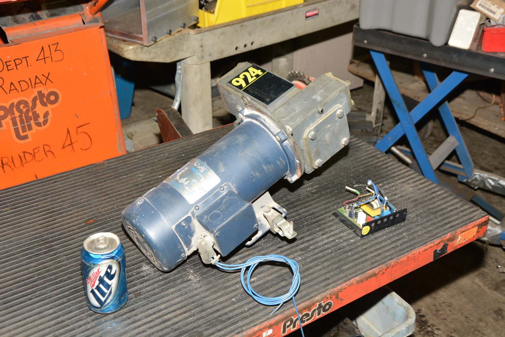 Winsmith speed reducer 924mdtd ratio 1 100 leeson 3 4 hp for 100 hp dc motor
