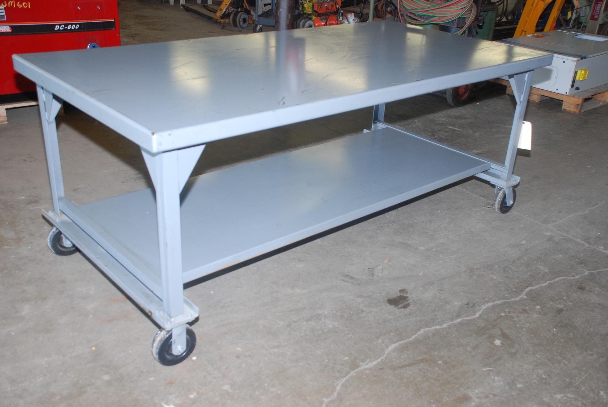 Wow Hercules Type Heavy Duty Work Bench Or Welding Table On Casters Inv 6097 Ebay