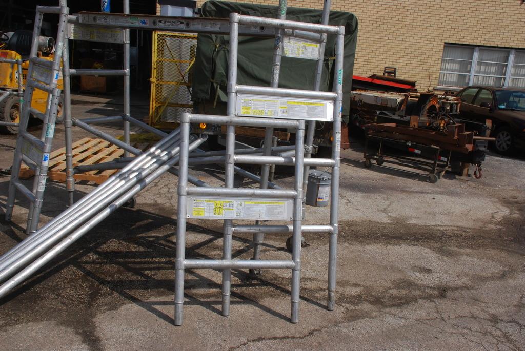 Aluminum Scaffold Deck : Werner aluma plank scaffold deck aldex aluminum quot wide