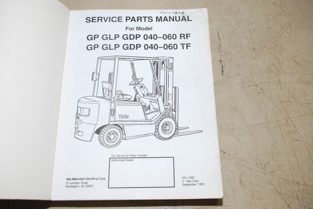 Yale Forklift Service Parts Manual For Gp Glp Gdp 040 Manual Guide