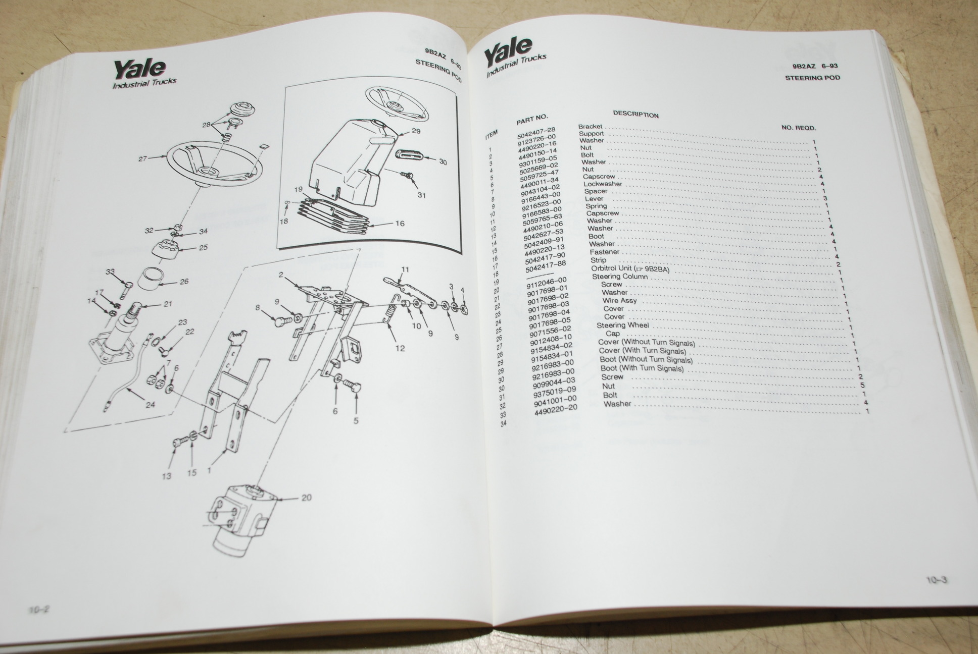 Yale Forklift Service Parts Manual For Gp Glp Gdp 040