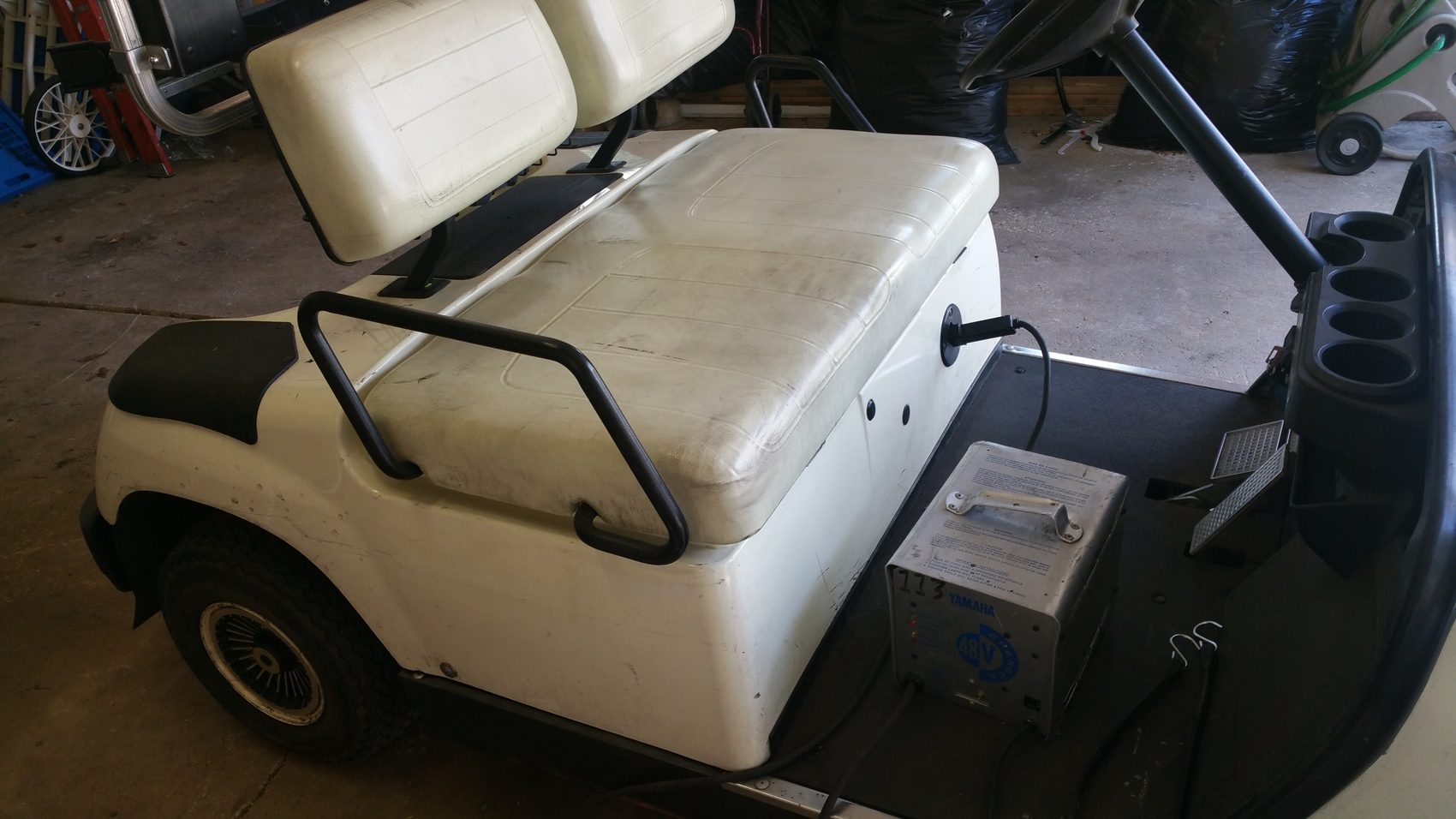 2002 yamaha g19e 48 volt electric golf cart new batteries